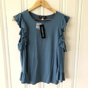 NWT Karl Lagerfeld cold shoulder top